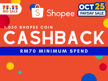 Pre 11.11 Sale - Use this exclusive Shopee promo code for 15% Coins Cashback