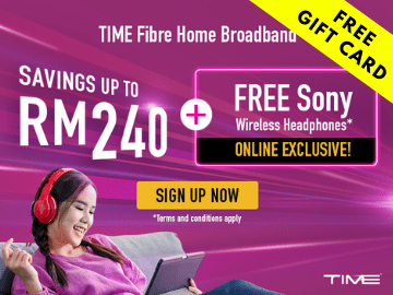 Sign up for Time Internet Fibre plan and win a FREE gift card for your favourite streaming service