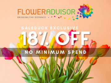 Take 18% off on all purchases with this FlowerAdvisor exclusive promo code