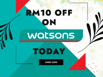 Watsons exclusive is back! Use this promo code to get RM10 off your first purchase